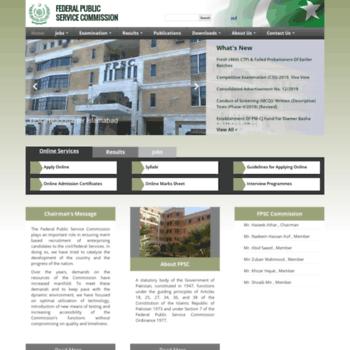 Fpsc.gov.pk thumbnail