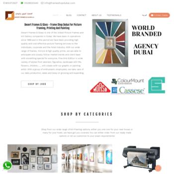 frameshopdubai.com at WI. Frame Shop Dubai   Art Works Dubai ...