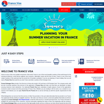 franceschengenvisa co uk at WI  Online France Visa