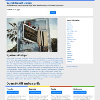 Fransktlexikon.se thumbnail