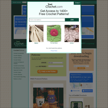 Free-crochet.com thumbnail