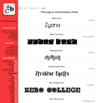 Free-fonts-download.com thumbnail