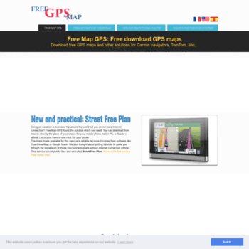 free-map-gps com at WI  Free download of GPS maps, POI and