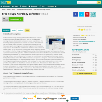 Free-telugu-astrology-software.soft112.com thumbnail