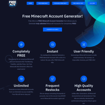 freealts pw at WI  FreeAlts pw - Free Minecraft, Spotify and