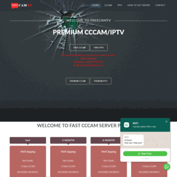 freecamtv com at WI  Freecamtv - CCcam IPTV server free premium