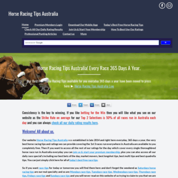 freehorseracingtipsaustralia com at WI  Horse Racing Tips Australia