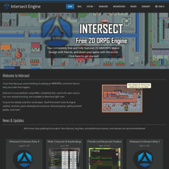 freemmorpgmaker com at WI  Intersect Engine - Free 2D MMORPG