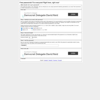 freepasswordgenerator com at WI  Free Password Generator - Generate