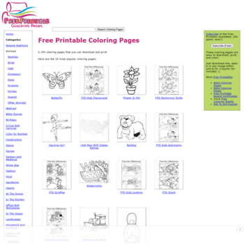 Top 10 printable coloring pages for kids websites