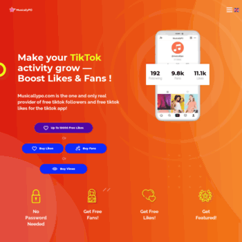 freetiktok com at WI  FreeTikTok - Free Fans & Likes & Followers