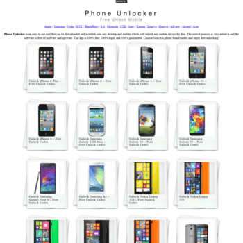 freeunlock org at WI  Phone Unlocker | Free Unlock Mobile
