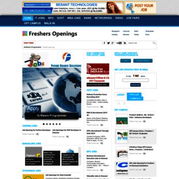 Freshersopenings.in thumbnail