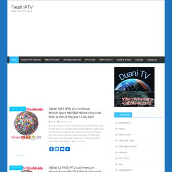 freshiptv com at WI  Fresh IPTV - Daily Free IPTV Links
