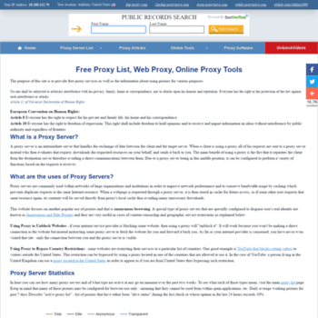 freshproxy org at WI  ProxyNova - Fresh Proxy Server List, Free