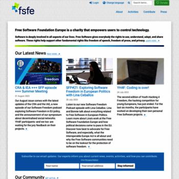 Fsfeurope.org thumbnail
