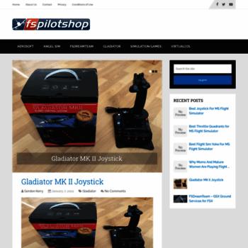 fspilotshop com at WI  Flight Sim Software & Hardware, FSX