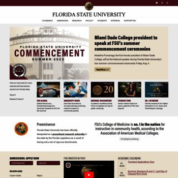 fsu edu at WI  Florida State University