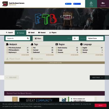 ftbservers com at WI  Feed the Beast Servers • FTB Server List