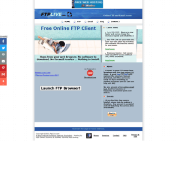 ftplive com at WI  Free Online FTP from FtpLive com - Free