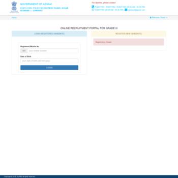 g3pwd2018 slprbassam in at WI  Applicant Login/Register » State