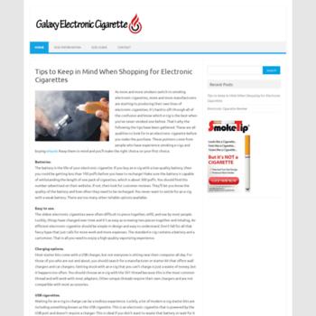 Galaxyelectroniccigarette.co.uk thumbnail