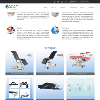 galaxyindia com at WI  Medical Equipment Manufacturers and