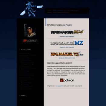 galvs-scripts com at WI  Galv's RPG Maker Scripts & Plugins