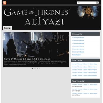 Gameofthronesaltyazixyz At Wi Game Of Thrones Altyazı Altyazılar