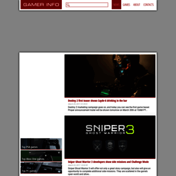 gamerinfo net at WI  Video Game News - Gamer Info