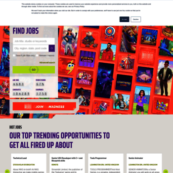 gamesjobsdirect com at WI  Games Jobs Direct | Video Games