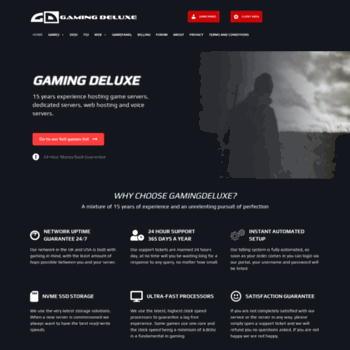 Gamingdeluxecouk At Wi Quality Game Server Hosting Teamspeak