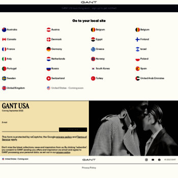 at WI. GANT US Store | Men's Shirts, Blazers for