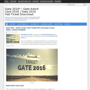 Gate2015result.in thumbnail