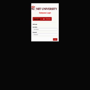 gatep.niituniversity.in at WI. NU Gatep | NIIT University on