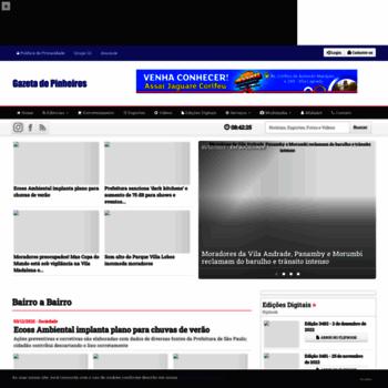 Gazetadepinheiros.com.br thumbnail