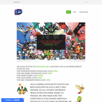 gbaroms weebly com at WI  GBAROMS- Pokemon and GBA Roms
