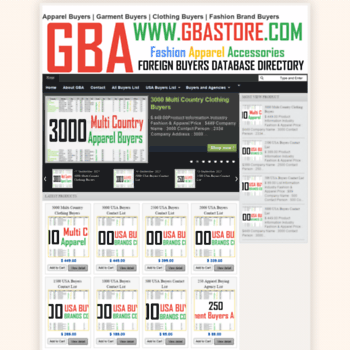 gbastore com at WI  Global Buyer List | Garment Buyers List