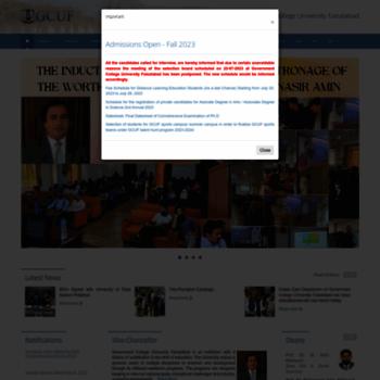 gcuf edu pk at WI  GCUF | Government College University Faisalabad