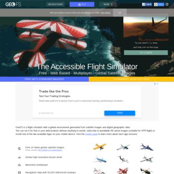 gefs-online com at WI  GeoFS - The Free Online Flight Simulator