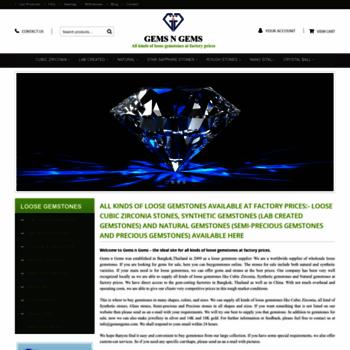 gemsngems com at WI  Buy Loose Gemstones Online - CZ Stones