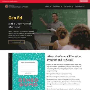 Gened.umd.edu thumbnail