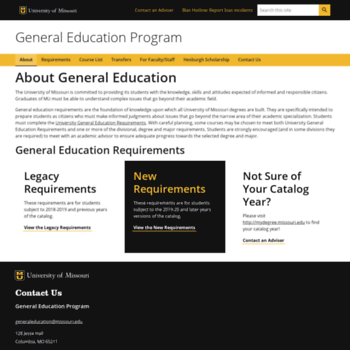 Generaleducation.missouri.edu thumbnail