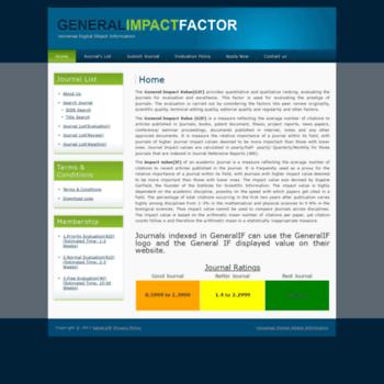 generalimpactfactor com at WI  General Impact Factor