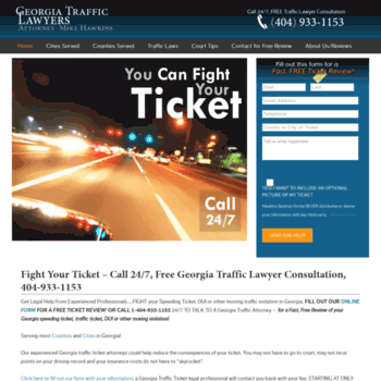 georgiatrafficticket net at WI  Georgia Traffic Ticket Lawyer | GA