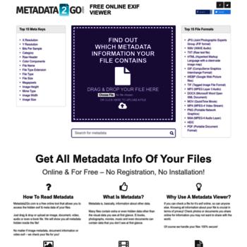 get-metadata com at WI  Check files for metadata info