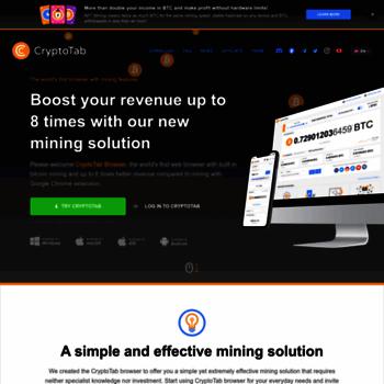 getcryptotab com at WI  Get CryptoTab - Easy way for Bitcoin Mining