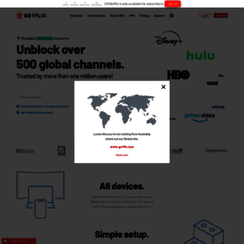 getflix com au at WI  Getflix Smart DNS + VPN: Unblock Hulu