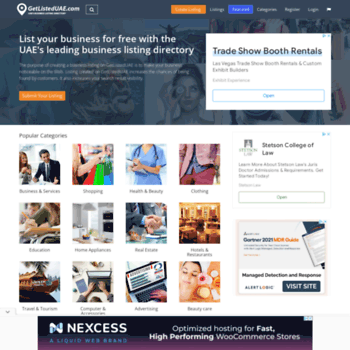 getlisteduae com at WI  Free local business listing site UAE, Dubai