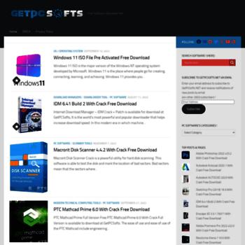 Getpcsofts.net thumbnail